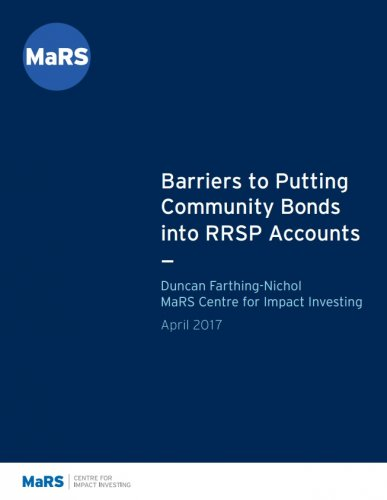 Barriers to Putting Community Bonds into RRSP Accounts