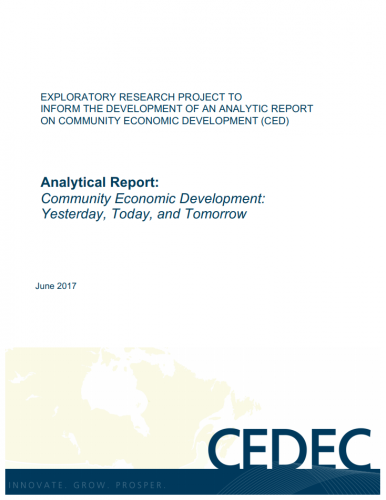 Analytical Report: Community Economic Development: Yesterday, Today, and Tomorrow