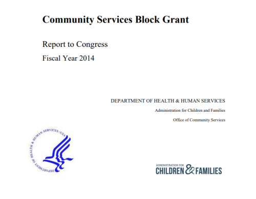 Community Services Block Grant: Report to Congress (Fiscal Year 2014)