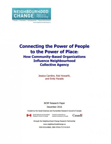 Connecting the Power of People to the Power of Place