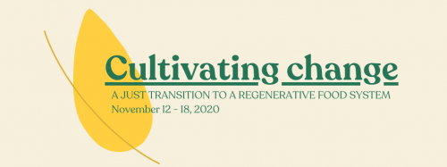 Banner with Cultivating Change logo
