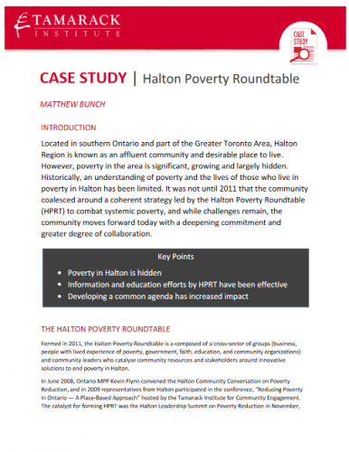 Deep Dive: A Case Study on Halton's Poverty Roundtable
