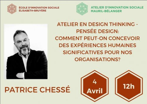 Atelier en design thinking - pensée design