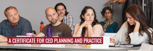 A CERTIFICATE FOR CED PLANNING AND PRACTICE
