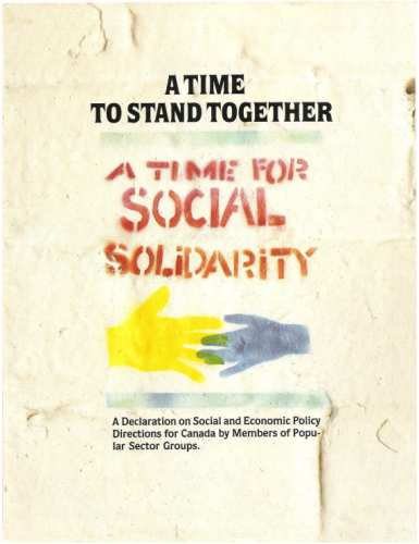 A Time to Stand Together: A Time for Social Solidarity