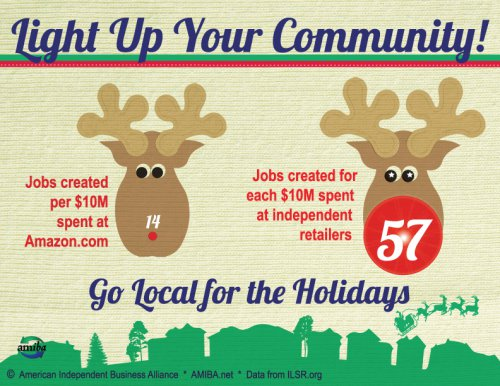 Light up your community, go local for the holidays