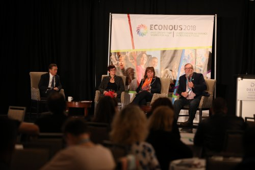 David LePage, Marie Bouchard, Francine Whiteduck and David Upton at EconoUs2018