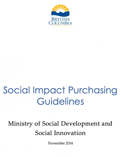 BC Social Impact Purchasing Guidelines