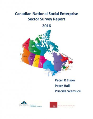 Canadian National Social Enterprise Sector Survey Report 2016