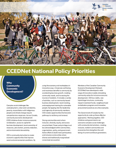CCEDNet's National Policy Priorities