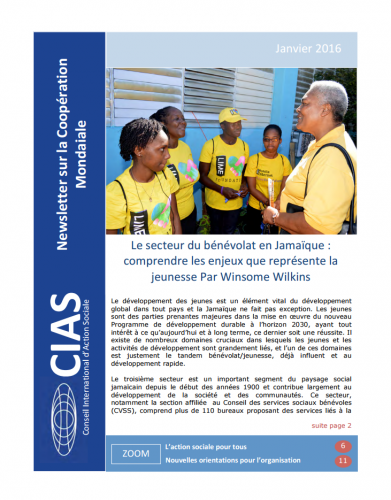 Counseil international d'action sociale - Newsletter sur la Coopération Mondiale