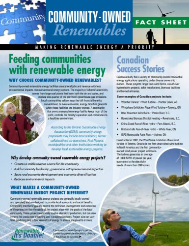 Community-Owned Renewables Fact Sheet