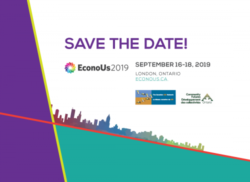 Save the date! EconoUs2019 September 16-18, London, ON