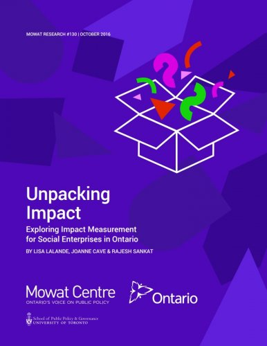 Unpacking Impact: Exploring Impact Measurement for Social Enterprises in Ontario