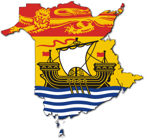 Flag Map of New Brunswick