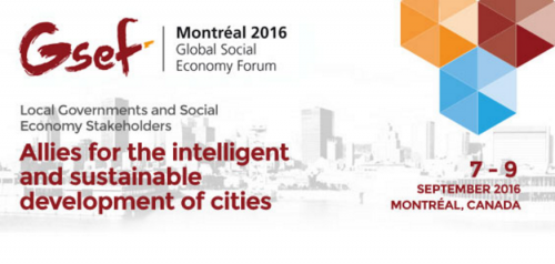 GSEF2016 - Local Governments and Social Economy Stakeholders: Allies for the intelligent and sustainable development of cities.