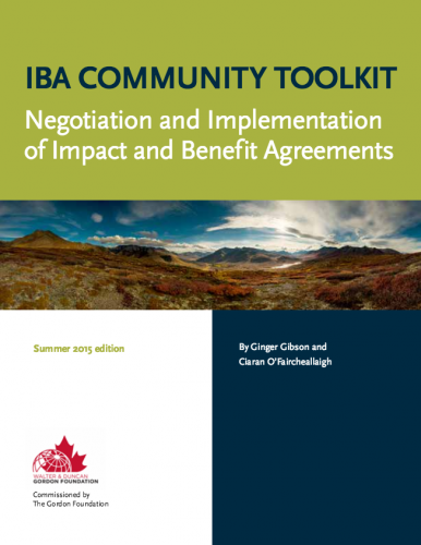 IBA (Impact and Benefit Agreements) Community Toolkit