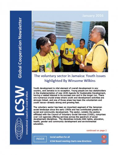 ICSW Global Cooperation Newsletter, January 2016