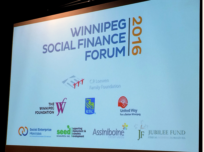 Winnipeg Social Finance Forum 2016 title slide