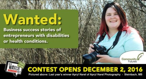 Wanted: Business success stories of entrepreneurs with disabilities or health conditions, Contest Opens December 2, 2016