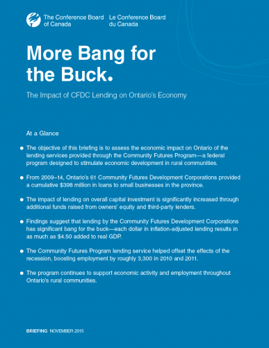 More Bang for the Buck: The Impact of CFDC Lending on Ontario's Economy