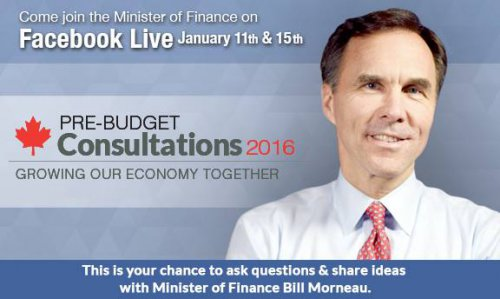 Pre-Budget Consultations 2016, Growing Our Economy Together