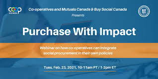 """Promo card for """"Purchasing with impact: How co-operatives can integrate social procurement in their own policies"""""""