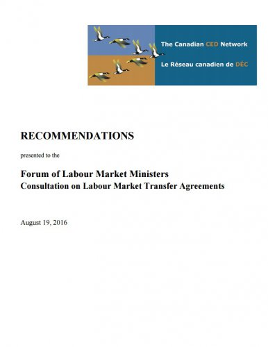 CCEDNet: Recommendations on Labour Market Transfer Agreements | The