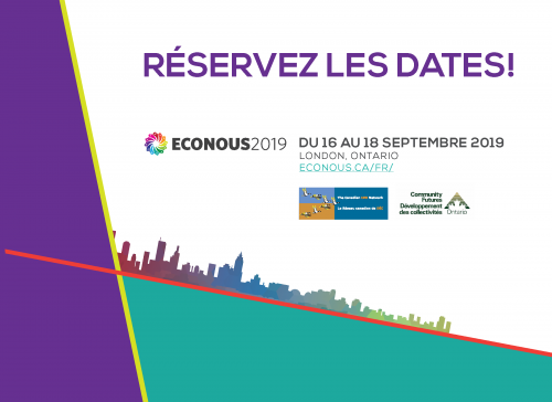 Réservez les dates ! EcoNous2019 du 16 au 18 septembre, London, ON