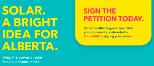 Solar. A bright idea for Alberta - Sign the petition today.