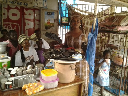 Woman Selling Products in Ndiaye Mekhe, Senegal