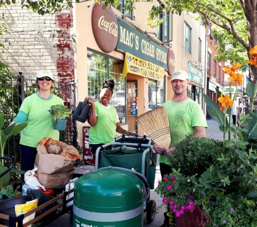 Parkdale green space workers