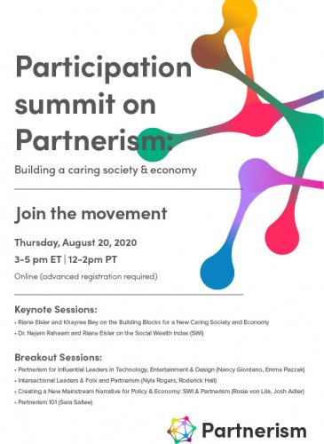 Flyer image with details on Partnerism summit
