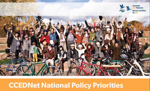 Policy Priorities Document Cover Image with group of people raising their hands