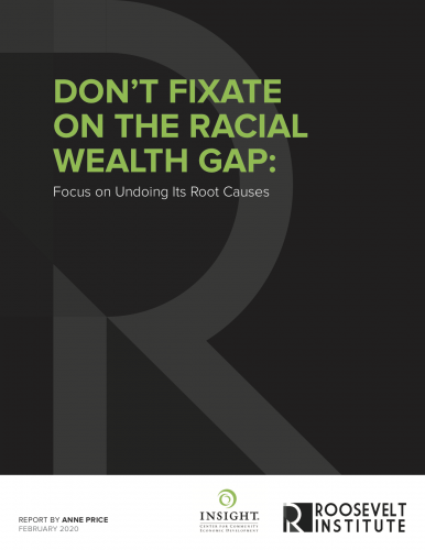 Racial Wealth Gap Report Cover