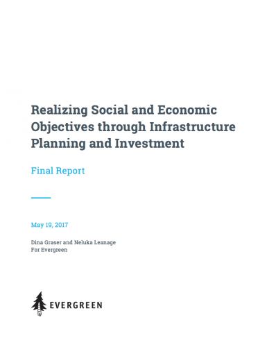 Realizing Social and Economic Objectives through Infrastructure Planning and Investment