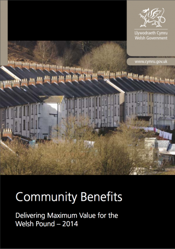 Community Benefits Guidance: Delivering Maximum Value for the Welsh pound