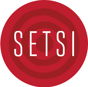 SETSI logo (red bullseye with SETSI written across it)
