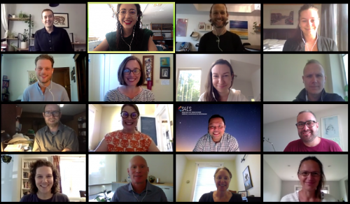 Photo of CCEDNet staff on a Zoom meeting