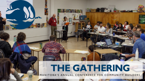 A banner image with Manitoba members in a classroom
