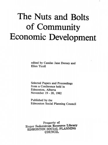 The Nuts and Bolts of Community Economic Development
