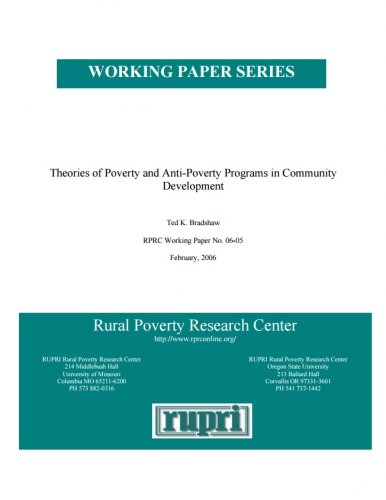 theories of poverty and anti poverty programs in community  theories of poverty and anti poverty programs in community development